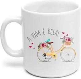 Caneca Bicicleta Bike a vida e Bela