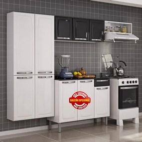 Cozinha Rose em Aço com 3 Peças - Itatiaia Branco-Preto