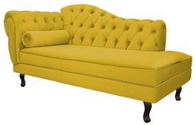 Recamier Diana 140cm Lado Direito Suede Amarelo - ADJ Decor