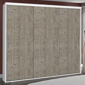 Guarda-Roupa Casal 3 Portas de Correr 100% Mdf 1973 Branco/Demolição - Foscarini