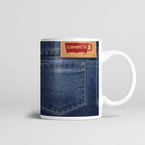 Caneca Cerâmica 330ml Jeans - Kokken