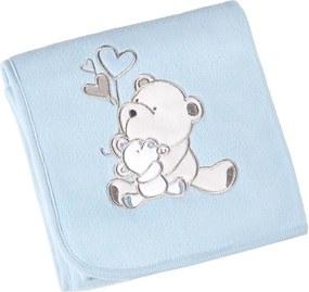 Manta Fleece Bordada Bebê Mini 82 cm x 82 cm Com 1 peça - Produto Importado Lepper Azul