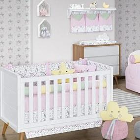 Quarto de Bebê Unicórnio Rosa 17 Peças