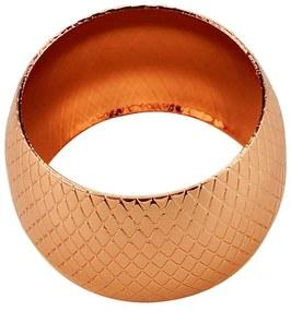 Jogo Anéis Para Guardanapos 4 Peças Metal Rose Gold 5x3cm 60734 Royal