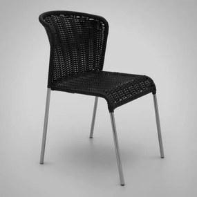 Cadeira Noa Junco Sintético Estrutura Aço Inox Design Exclusivo by Studio Artesian