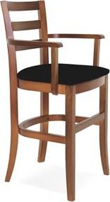 Cadeira de Madeira Infantil Paris Sofie Amendoa com Braços e Estofado Preto Tramontina 14084135