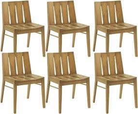 Kit 06 Cadeiras Para Sala de Jantar Cozinha Franci Palha - Gran Belo