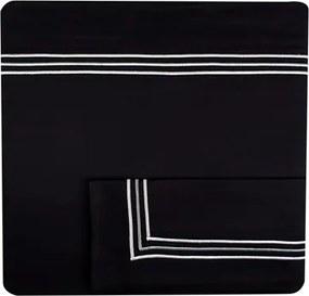 Jogo De Lençol London Black 450 Fios Viúva