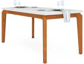Mesa de Jantar Dália para 6 cadeiras 170cm Rústico Terrara Off White