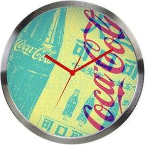 Relógio de Parede Coca-Cola NewsPaper Amarelo em Metal - Urban