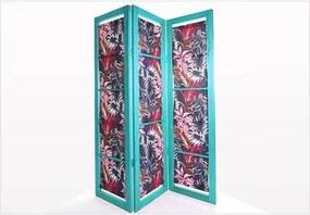 Biombo com Tecido 18663.2 Dominoes Stain Azul - Mão & Formão