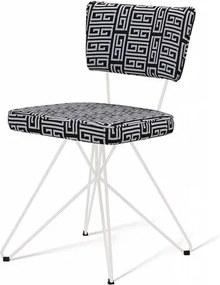 Cadeira Pop Retro Estampa Maze Base Estrela Branca - 49597 Sun House