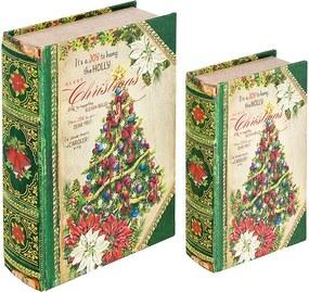 Caixa Livro com 2 Peças Christmas Tree