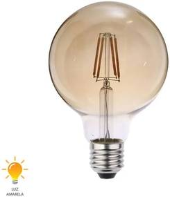 Lâmpada LED Filamento G95 E27 4W Bivolt Branco Quente 2200W - 0327000 - Blumenau - Blumenau