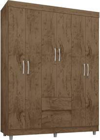 Guarda-roupa 6 portas 2 gavetas demoliçÁo Araplac móveis Marrom