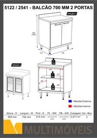 Balcão Multiuso P e Cooktop Argila Acetinado Multimóveis Bege/Preto