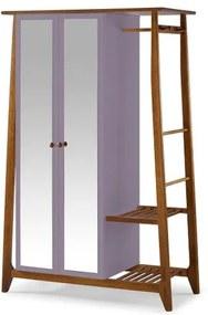 Armario Multiuso Stoka 2 Portas Lilas Estrutura Amendoa 169cm - 60967 Sun House
