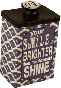 Caixa Decorativa de Metal Smile Brighter