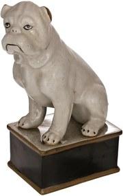Escultura Em Porcelana Cachorro