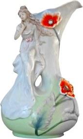 Vaso para Flores Em Com Escultura Porcelana Imagining