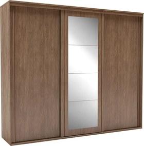 Guarda-Roupa de Casal Inovatto 3 Portas Com Espelho 267 cm Ébano - Belmax