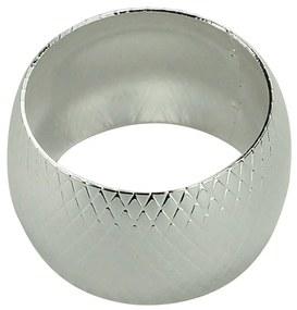 Jogo Anéis Para Guardanapos 4 Peças Metal Prateado 5x3cm 60735 Royal