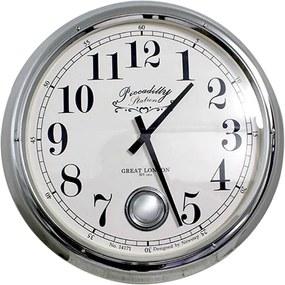 Relógio de Parede Louise Silver Goldway - 60x13 cm