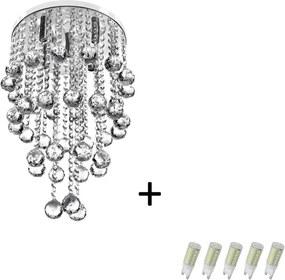 Pendente Cristal Legitimo Classic Round Long 32 + Lamp 6000