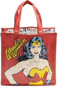 Sacola Reutilizável Mulher Maravilha Wonder Woman DC Comics - Vermelho