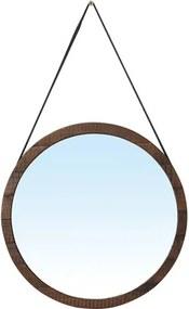 Espelho Berlim com Moldura cor Rustic Brown 65 cm (LARG) - 51129 Sun House