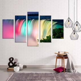 Conjunto de 5 Telas Love Decor Decorativas em Canvas Cataratas Colors Azul
