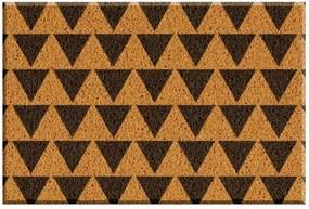 Capacho de Vinil Triangulos Amarelo Único Love Decor