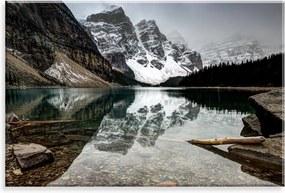 Tela Decorativa em Canvas Love Decor Lago entre Montanhas Multicolorido 90x60cm
