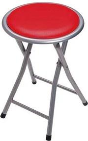 Banqueta Dobrável Circular Comfort - Vermelho