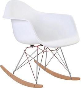 Cadeira Eiffel Com Braço Branca Base Balanço Rivatti Móveis