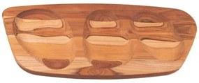 Tábua para Servir Tramontina Concreta em Madeira Teca com Acabamento Óleo 54 x 24 cm