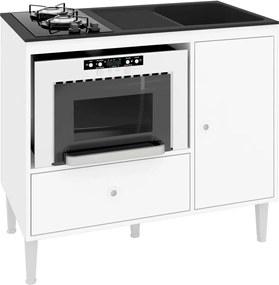 Balcão compacto Multifuncional Para Cooktop, Forno e Pia Mônaco Branco Art in Móveis