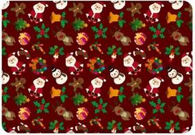 Tapete Sala Love Decor  Natal Minimalista  Vermelho