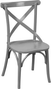 Cadeira de Jantar X Espanha sem Braço Cinza - Wood Prime PTE 35137