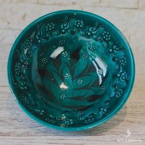 Tigela Turca Turquesa 20cm | Cerâmica