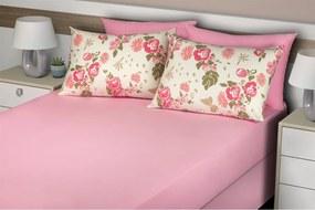 Jogo de cama Queen simples 3 pçs - Color Rosa