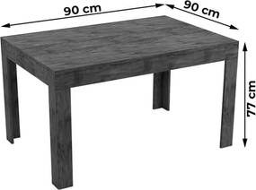Mesa Janu Extensível 90/150cm 100% MDF Nobre OOL