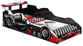 Cama Carro Fórmula 1 Infantil Preto Com Vermelho - J&A Móveis