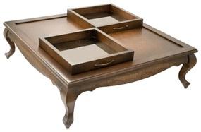 Mesa de Centro Lumiére Quadrada - Vintage  Kleiner Schein