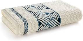 Toalha de Rosto Fio Penteado Norman - Ivory/Azul - Karsten