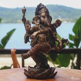 Estátua Ganesha Dançando 43cm