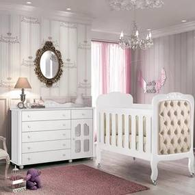 Quarto Infantil Cômoda Provence e Berço Imperial Branco - Planet Baby