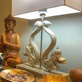 Luminária de Mesa Dragões Bali - Gray