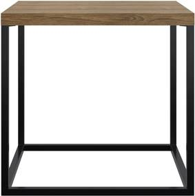 Mesa Cube P Artesano Marrom/Preta