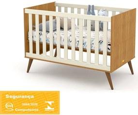 Berço Gold Freijó/Off White/Eco Wood Matic Móveis
